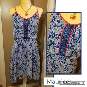 Patterened Maurices Dress